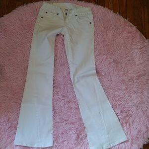 True religion white flare lowrise jeans